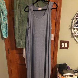 Pale bluish- grey LuLaRoe Dani tank dress in 3xl